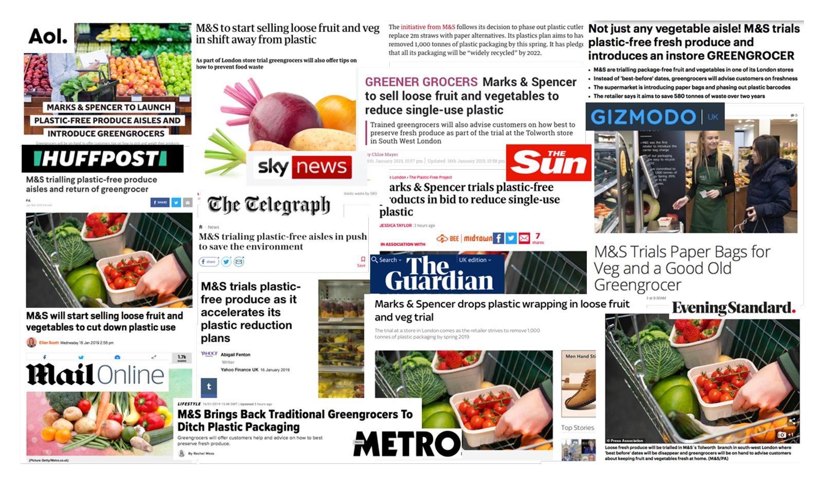 M&S modern PR coverage