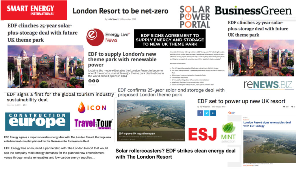 London Resort signs renewables deal with EDF Energy