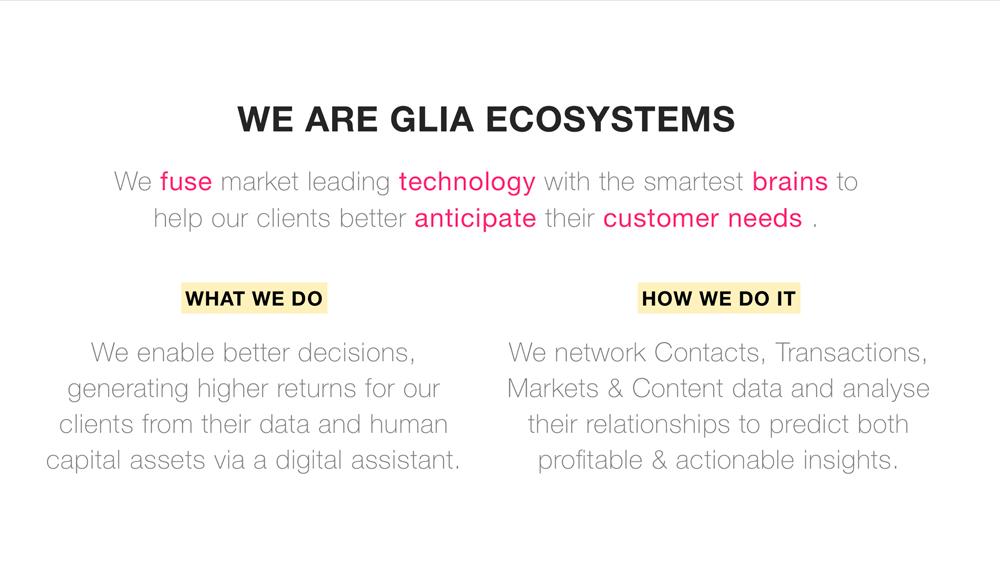 Glia Ecosystems: branding strategy and marketing communication